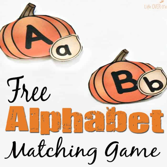Free Pumpkin Alphabet Matching Game