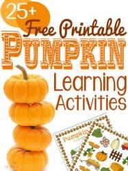 Free Pumpkin Printable Learning Activities