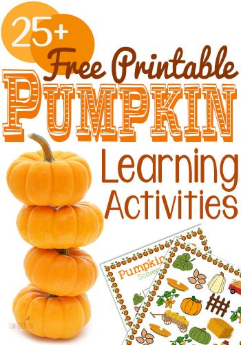 Free Printable Pumpkin Learning Activities! Non-scary pumpkin activities for all your October lessons! So many options. More are added regularly, so pin this to keep up with the latest!
