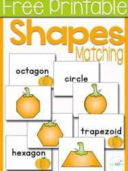Free Printable Pumpkin Shape Matching Game