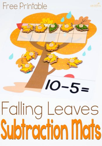 This free subtraction with ten-frames activity is great for practicing subtraction within 10. Lots of fun with the cute leaves!