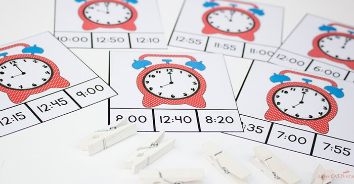 192 Printable Time Clip Cards