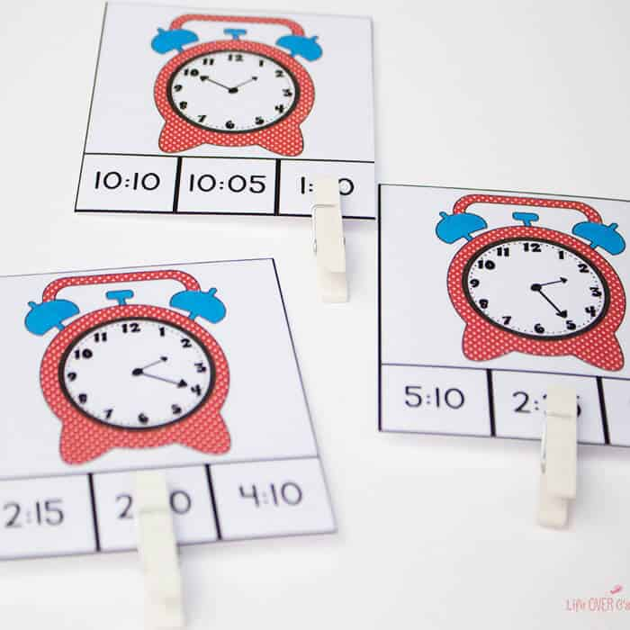 192 Time Clip Cards for learning to tell time! 7 levels of practice!