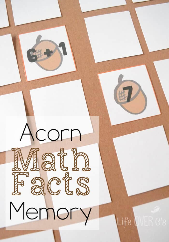 Acorn Math Facts Memory
