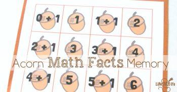 Acorn Math Facts Memory