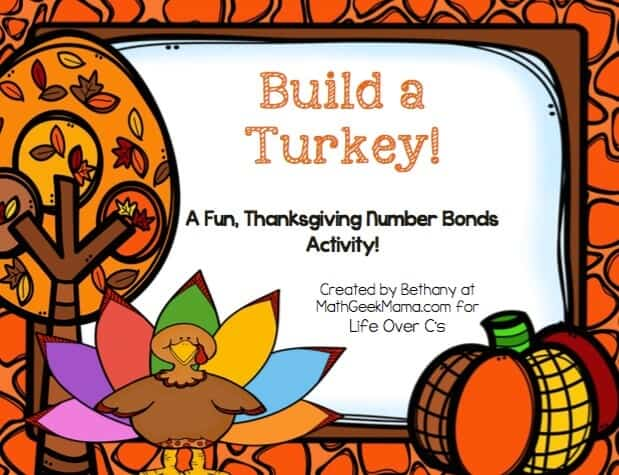 This Thanksgiving, help your kids practice addition to 10 and recognizing number bonds with this fun number bond turkey activity! Build each turkey with the correct addition facts, then take them apart and use over and over again!