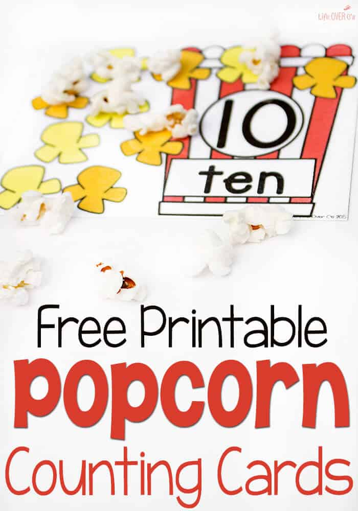 these free printable popcorn counting mats are so adorable what a fun way to practice