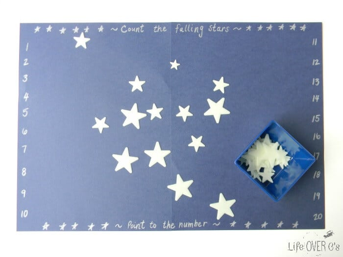 Counting Falling Stars Preschool Math Activity- Life Over C's