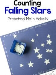 Counting Falling Stars Preschool Math Activity