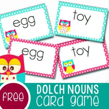 Dolch Sight Words Card Game Featured Square Image