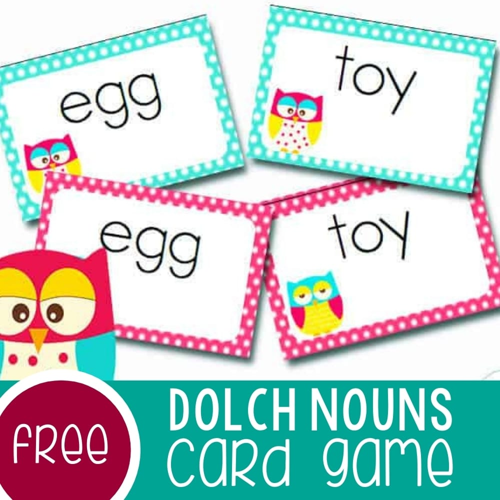 Dolch Sight Words Card Game