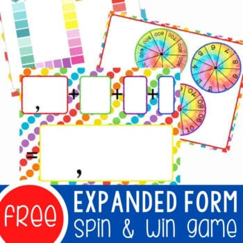 Expanded Form Spin & Win for Thousands Place Featured Square Image