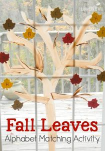 This fall leaves alphabet matching activity is such a fun way to learn letters and practice sounds!