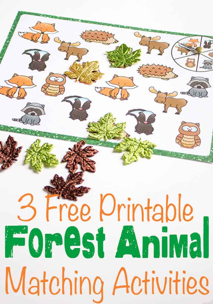 3 Free Printable Forest Animal Matching Activities- Life Over C's