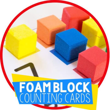 Free Printable Foam Block Counting Cards Featured Image