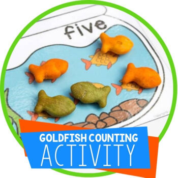 Free Printable Goldfish Counting Cards Featured Image