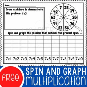 Multiplication Spin & Graph Math Centers Featured Square Image