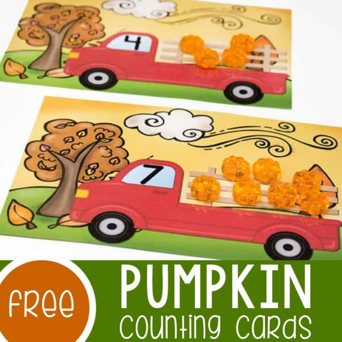 Pumpkin Counting Cards Featured Square Image