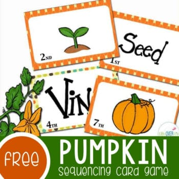 Pumpkin Sequencing Game for Fall Featured Square Image