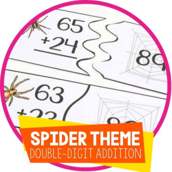 Spider Themed Puzzles for Double-Digit Addition Featured Image
