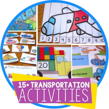 Transportation Theme Free Printables for Learning Featured Image