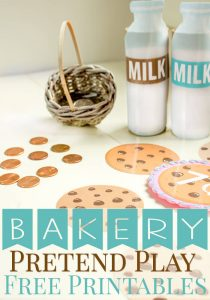 These Bakery pretend play free printables are a great way to practice counting to 10 and learn about money. Tips for introducing addition and subtraction too.