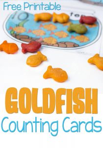 Food games and activities free printables for preschoolers for Gold fish card game
