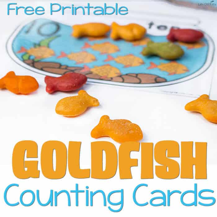 Free Printable Goldfish Counting Cards