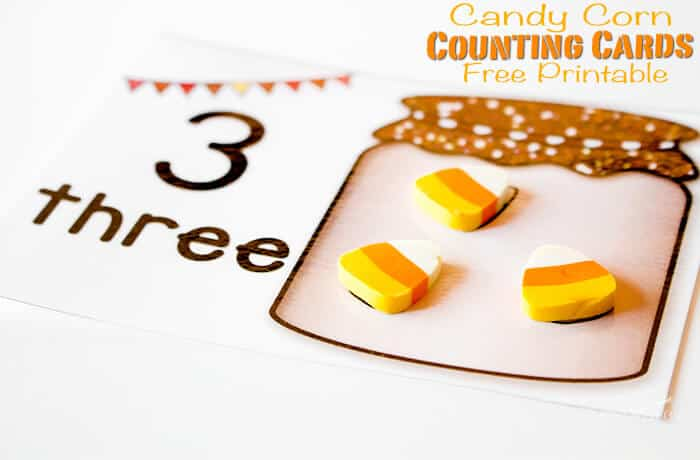 graphic about Candy Corn Printable referred to as Cost-free Printable Sweet Corn Counting Playing cards