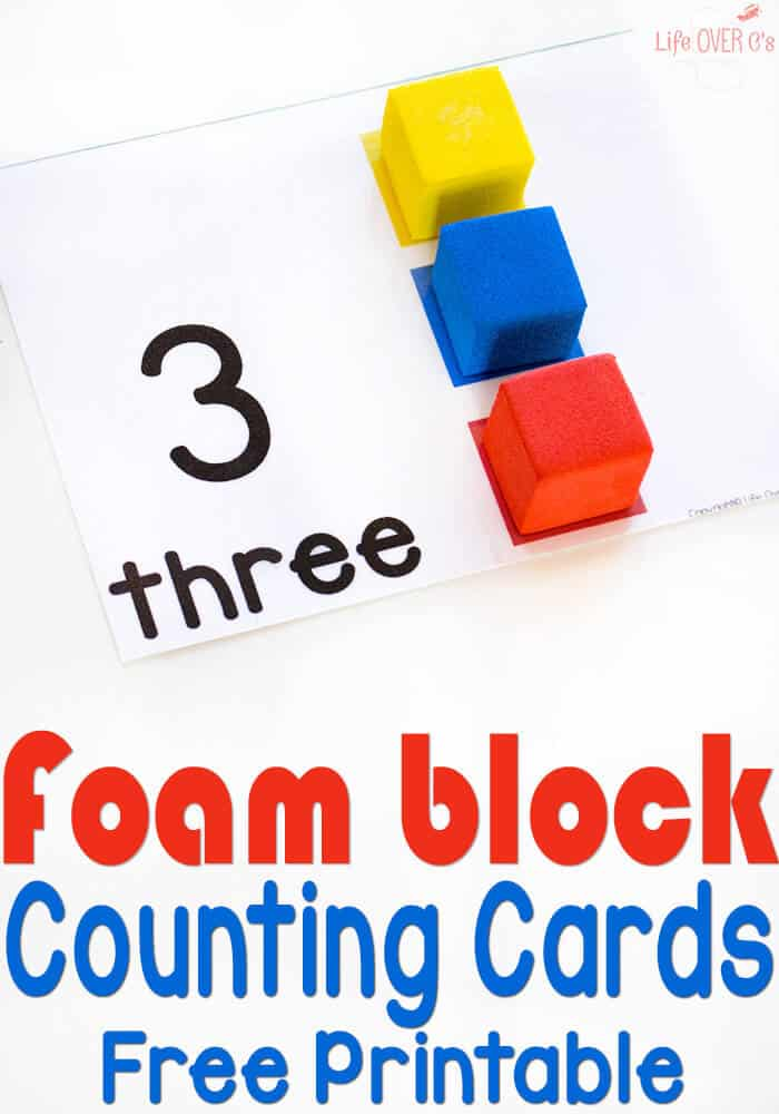 These free printable foam block counting cards are a fun way to work on matching colors and counting to 10! She has lots of other counting card themes too!