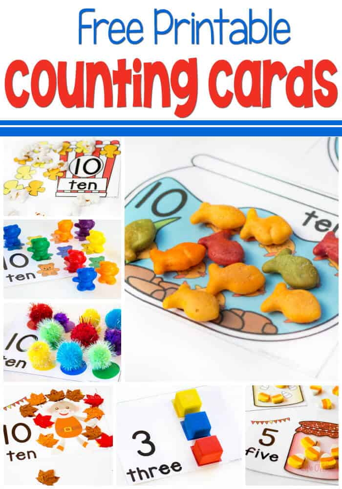 picture regarding Free Printable Numbers 1 10 called Totally free Printable Counting Playing cards for Figures 1-10 - Existence About Cs