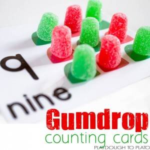 These gumdrop counting cards are so adorable! What a fun way to combine learning numbers with a fun treat!
