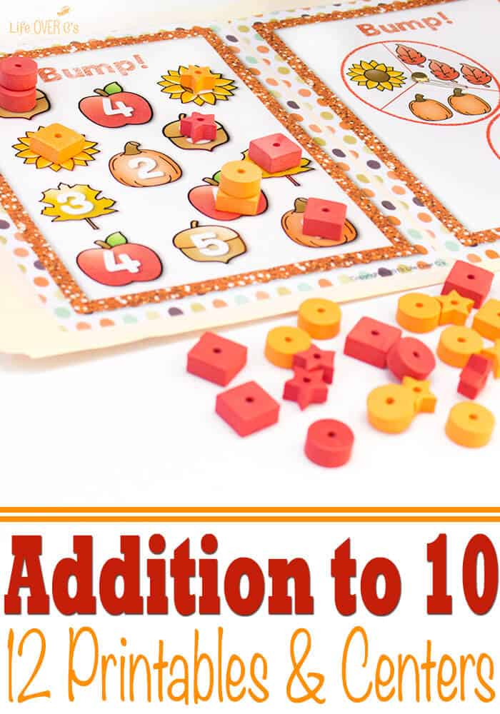 photo about Making 10 Games Printable identify Tumble Themed Addition in direction of 10 Printables Facilities