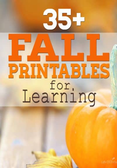 35 + super fun free Fall printables for learning! Math, reading, science, preschool packs and more. A growing resource, so pin now to find more ideas later!