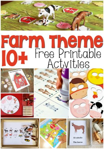 Farm Theme Free Printables for Learning! So many great ideas to add to your farm theme! I especially love the masks!