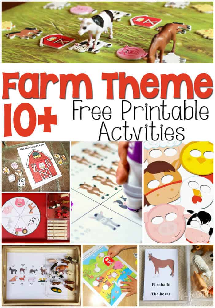 Farm Theme Free Printables For Learning - Life Over C's
