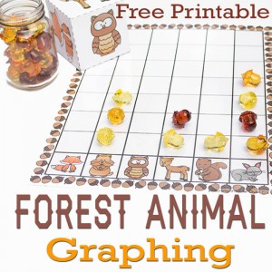 This free forest animal graphing activity is a fun way to learn about graphing with your kids!