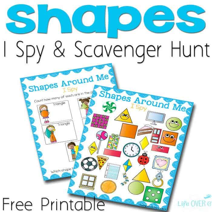 I love these Free Printable Shape I Spy Printables! Such a cute idea for preschoolers!