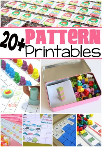 20+ Free Pattern Printables! What a great resource for learning about patterns! So many great themes!