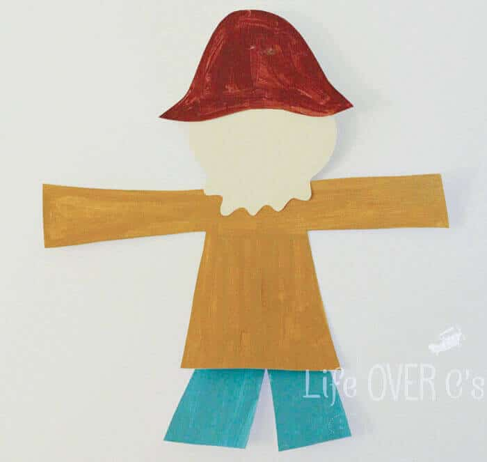 image about Scarecrow Template Printable known as Slash and Paste Scarecrow Craft for Tumble