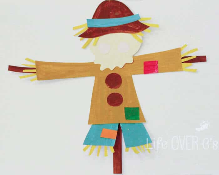 Cut & Paste Scarecrow Template