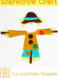 Cut-and-Paste Scarecrow Craft