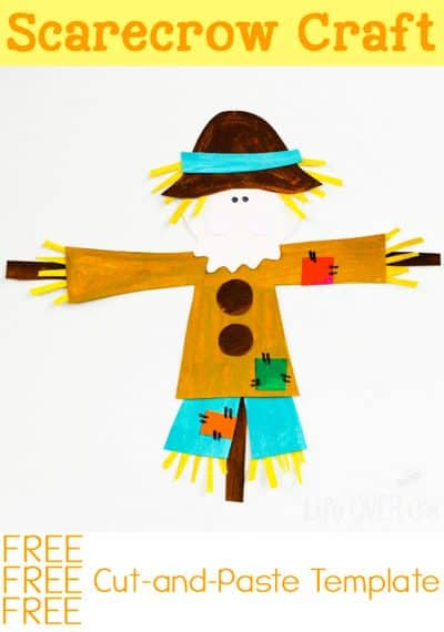 This free printable scarecrow template is a great addition to your fall theme!