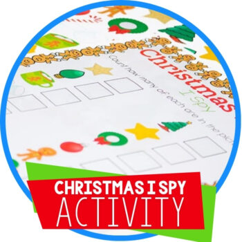 Christmas I Spy Free Printable Activity Featured Image
