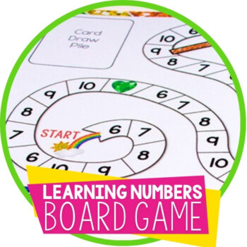 Free Printable Counting Game Numbers 6-10 Featured Image