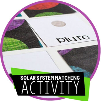 Free Printable Solar System Matching Game Featured Image