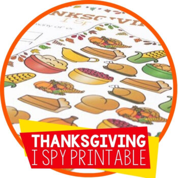 Free Printable Thanksgiving I Spy Featured Image
