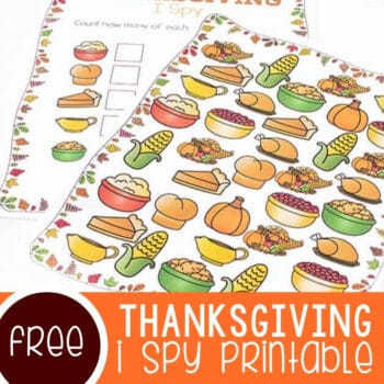 Free Printable Thanksgiving I Spy Featured Square Image