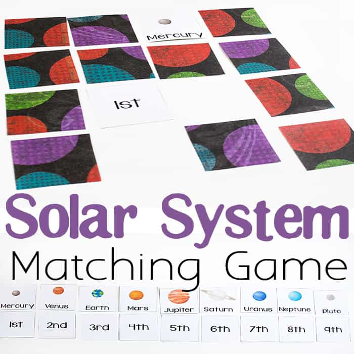 Free Printable Solar System Matching Game