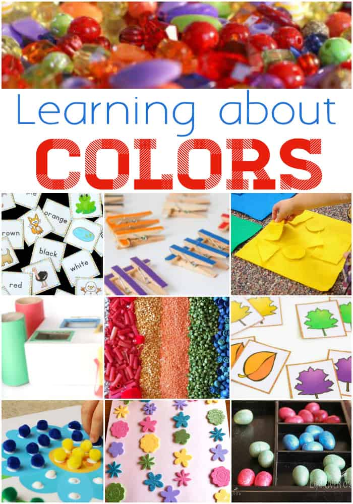 So many fun ways for preschoolers to learn about colors! Free printables, hands-on activities, art, sensory activities and more!